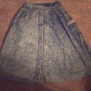 Dresses & Skirts - Acid wash/ jean skirt